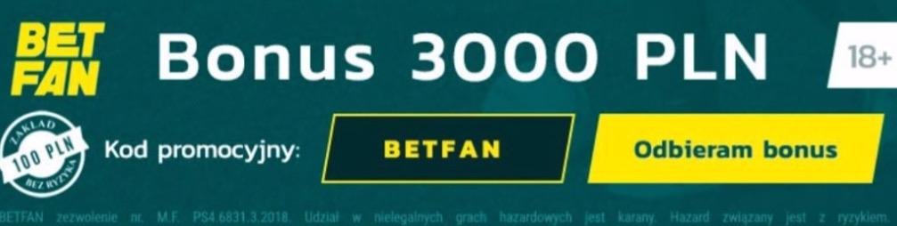 Betfan promocja, kod promocyjny, aktualny kod